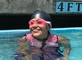 Nicole Swimming