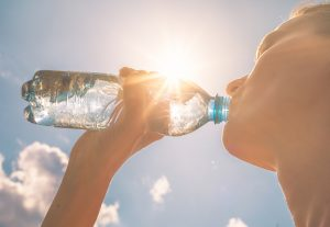 dehydration, hydrate, heat-related swimming injuries